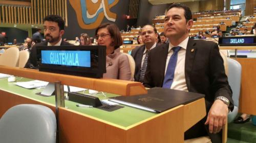 PDH visitó la ONU para informar sobre las acciones de Jimmy Morales
