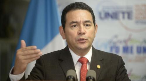 Jimmy Morales asegura que respetará a los manifestantes