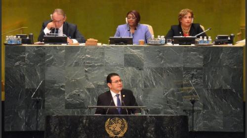 Jimmy Morales viaja a la ONU en plena crisis por corrupción
