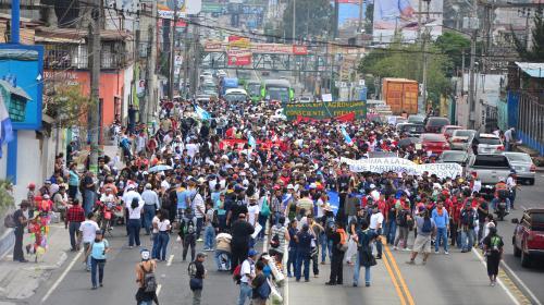 Esta es la ruta por donde transitará la marcha de la Usac el #20S