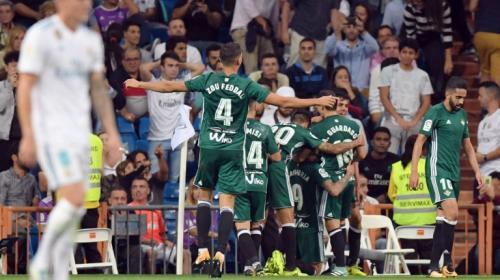 El Madrid cae en casa ante un Betis que marcó en el último minuto