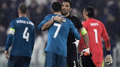 El noble gesto de Buffon con Cristiano Ronaldo al concluir el partido