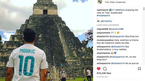 Esta es la historia de la foto de Tikal publicada por el Real Madrid