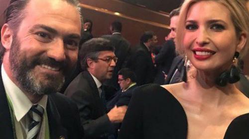 Acisclo Valladares presume amistad con hija de Donald Trump