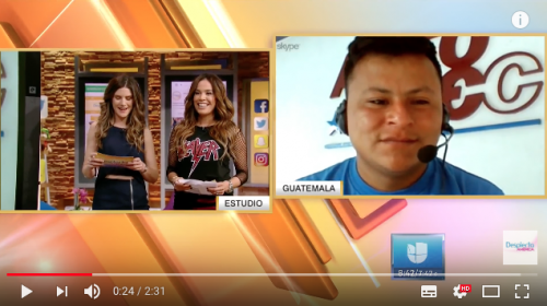 El reto que le hicieron a Manuel Perebal, el políglota, en Univisión