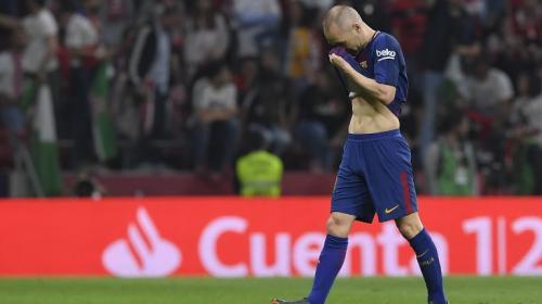 El Wanda Metropolitano se rinde ante las lágrimas de Iniesta