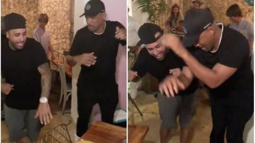Nicky Jam le enseña a bailar a Will Smith en Colombia