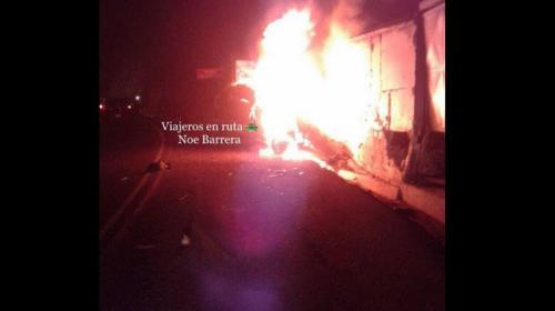 Fatal accidente en carretera a El Salvador