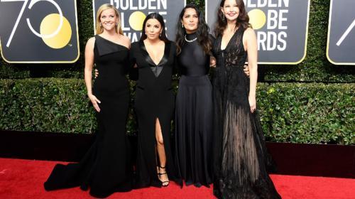 La alfombra roja de los Globo de Oro se tiñe de negro