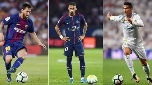 Neymar y Messi valen 2.5 veces más que Cristiano Ronaldo