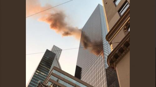 Incendio en Torre Trump alarma a Nueva York
