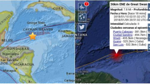 Sismo de magnitud 7,6 grados se registró en las costas hondureñas