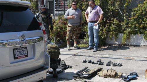 Este es el arsenal que llevaba el narcotraficante capturado en zona 14