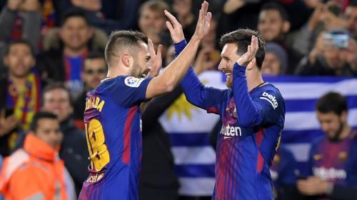 Tres goles en 15 minutos: Messi y Jordi Alba liquidan al Celta