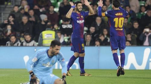 El Barcelona golea al Betis y es más líder que nunca