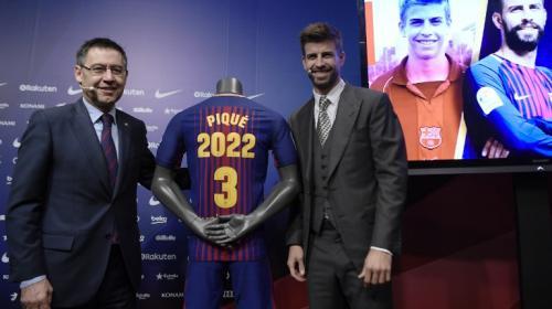 Piqué se hubiera retirado si no renovaba con el Barcelona