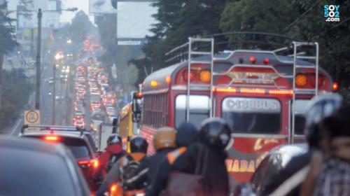 #VivirEnElTráfico Carretera a El Salvador y el tráfico que no avanza