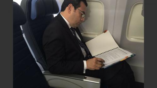 ¿A qué viajará Jimmy Morales a Estados Unidos?