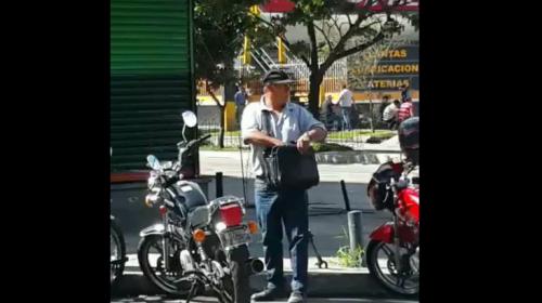 En 30 segundos, así roban una moto en la zona 4 capitalina