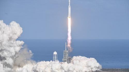 El cohete más poderoso del mundo despegó rumbo a Marte