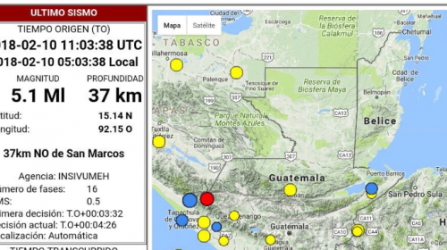Cinco sismos se han sentido en menos de 24 horas, según Insivumeh
