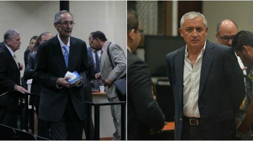 Otto Pérez y Álvaro Colom comparten celda en Mariscal Zavala