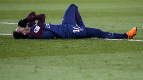 Así quedó el tobillo de Neymar, a días del partido contra el Madrid