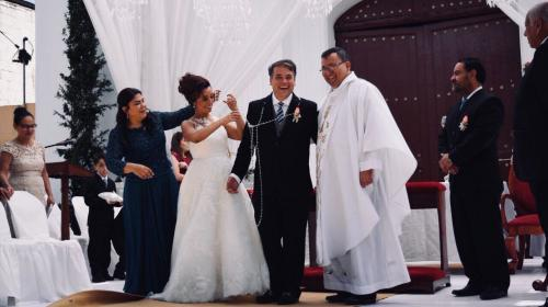 Así fue la boda de Edwin Escobar en el parque de Villa Nueva