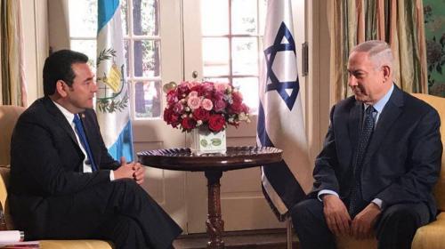 "Primer ministro israelí espera que Jimmy mueva ""pronto"" la embajada"