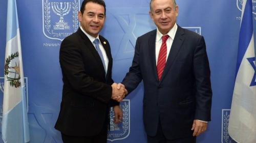 Israel pagará (otra vez) los gastos de la visita de Jimmy Morales