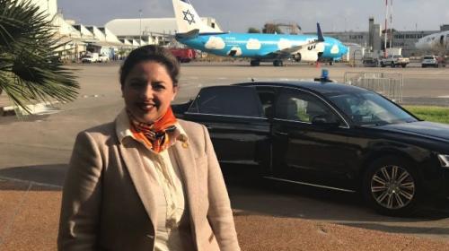 Tras la polémica de los embajadores, Sandra Jovel llega a Israel