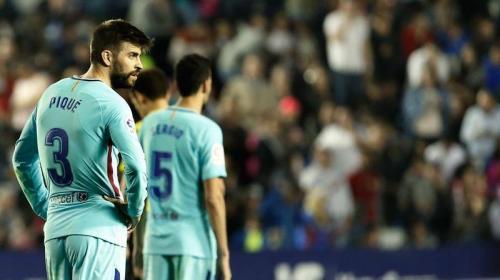 ¡Adiós invicto! Barcelona se deja sorprender por el Levante y pierde