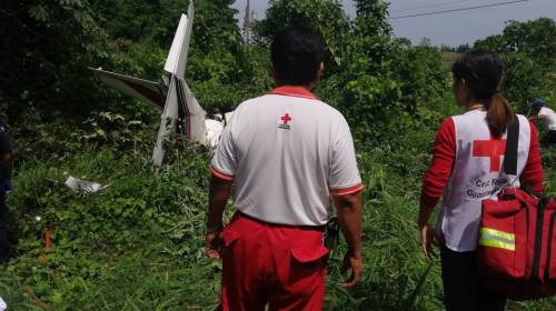 Reportan un muerto en accidente aéreo en Coatepeque