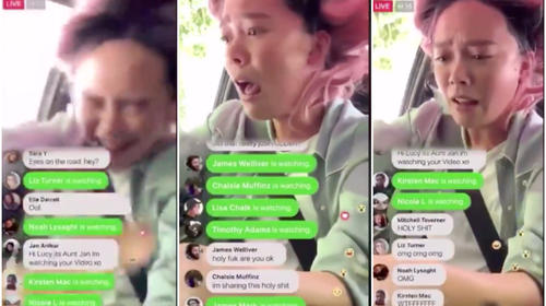 "Influencer conduce y transmite ""en vivo"" su propio accidente"
