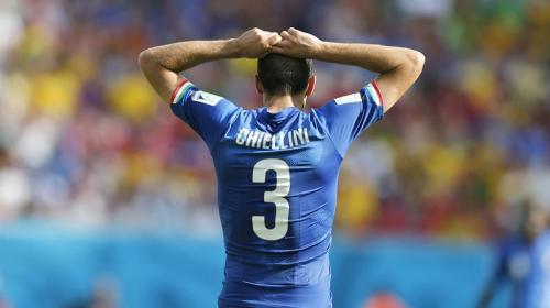 La venganza de Chiellini sobre Luis Suárez