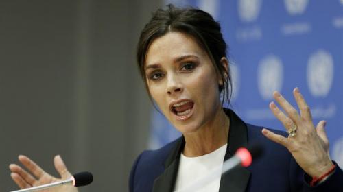 Victoria Beckham quiere ser la voz de las madres y los niños con sida