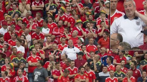 Fanático inglés se mete en la porra de Gales en juego de la Eurocopa