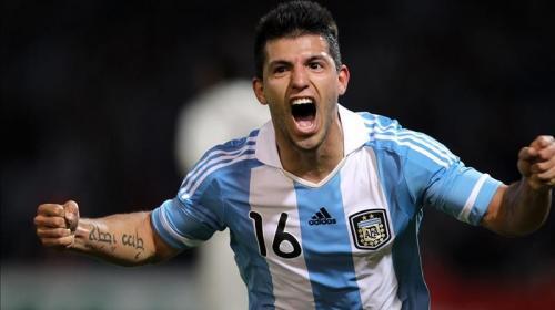 """El """"Kun"""" Agüero, uno de los referentes ofensivos de Argentina"""
