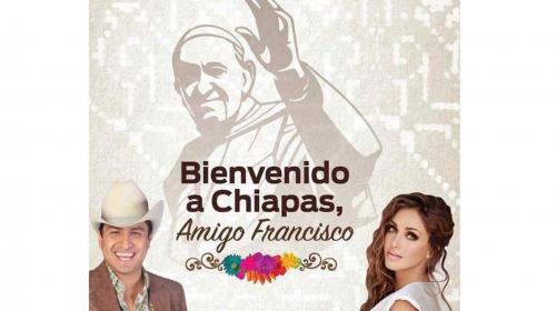 Anahí y Julión Álvarez le cantarán al Papa cuando llegue a Chiapas