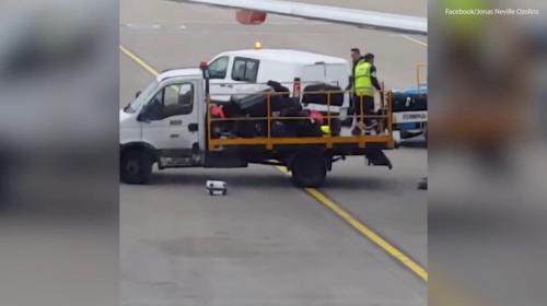 Video: Así maltratan los equipajes en los aeropuertos