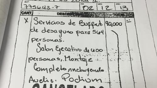 Esta es la factura fantasma que entregó el hijo de Jimmy Morales