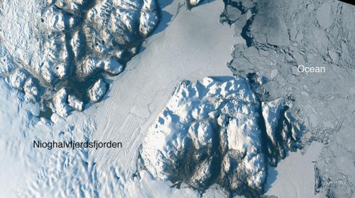 La NASA alerta del deshielo de un glaciar gigantesco en Groenlandia