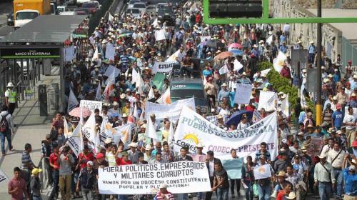 Organizaciones campesinas manifiestan en la capital este miércoles