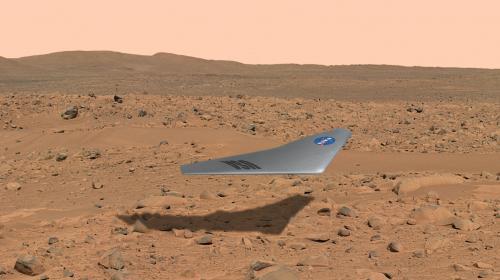 La Nasa presenta el avión que podría volar en Marte