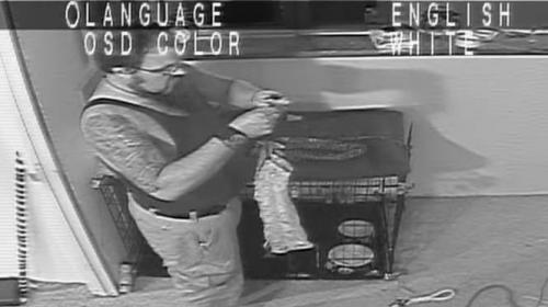 Cámara de seguridad capta a un asesino preparándose para matar