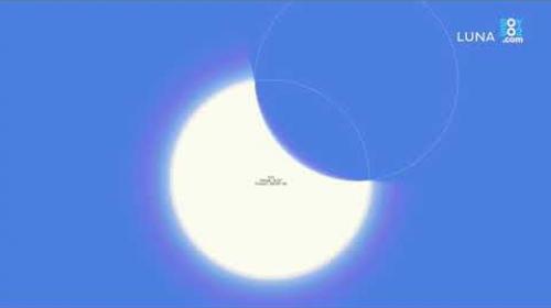Así se verá el eclipse parcial en Guatemala