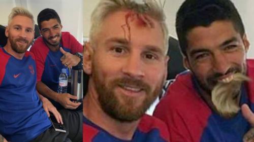 El montaje de Halloween de Messi y Suárez que arrasa en las redes
