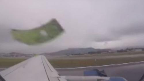 Video: Un avión comercial pierde parte de un motor al despegar