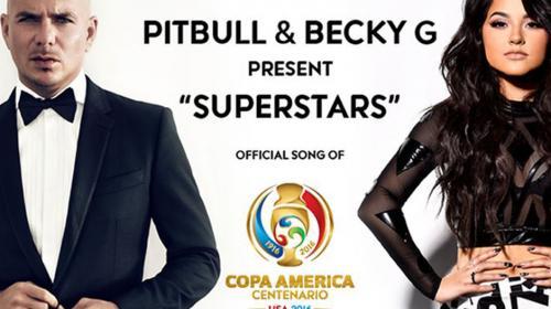 Escucha el tema oficial de Copa América de Pitbull y Becky G
