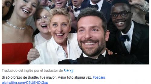 Ellen DeGeneres rompe récord con la foto más retuiteada de la historia